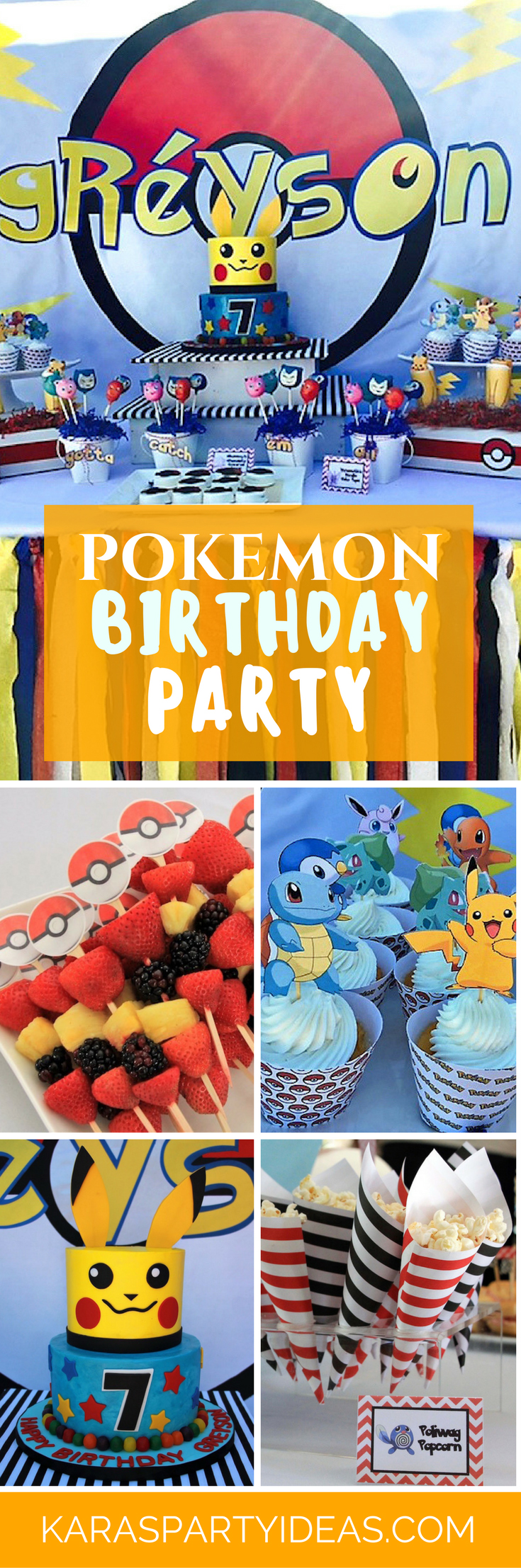 Pokemon Birthday Party via Kara's Party Ideas - KarasPartyIdeas.com (1)