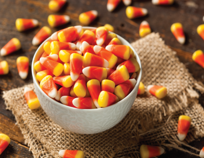 Candy Corn from Easy Thanksgiving Candy Recipe | Thanksgiving Pretzel Turkey's | Kara's Party Ideas #thanksgiving2017 #thanksgivingfood #thanksgivingcandy #thanksgivingkids #kidsthanksgiving #kidsthanksgivingactivities #turkey #turkeypretzels #thanksgivingtreats