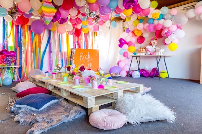 Rainbow Trolls Disco Birthday Party on Kara's Party Ideas | KarasPartyIdeas.com (22)