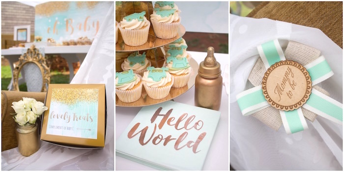 Rustic Glam Baby Shower on Kara's Party Ideas | KarasPartyIdeas.com (26)