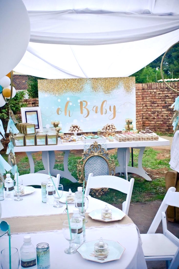 Rustic Glam Baby Shower on Kara's Party Ideas | KarasPartyIdeas.com (7)
