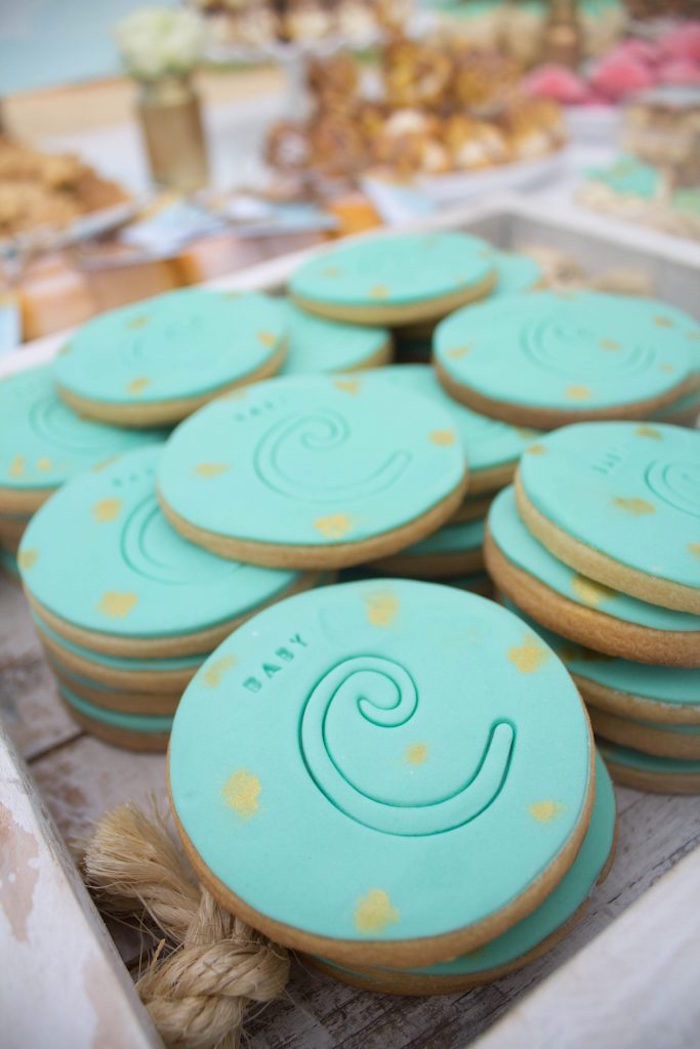 Cookies from a Rustic Glam Baby Shower on Kara's Party Ideas | KarasPartyIdeas.com (24)
