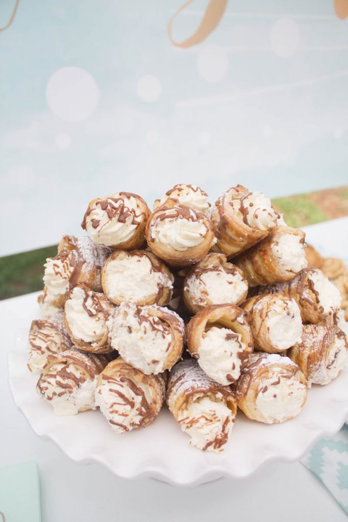 Cannolis from a Rustic Glam Baby Shower on Kara's Party Ideas | KarasPartyIdeas.com (23)