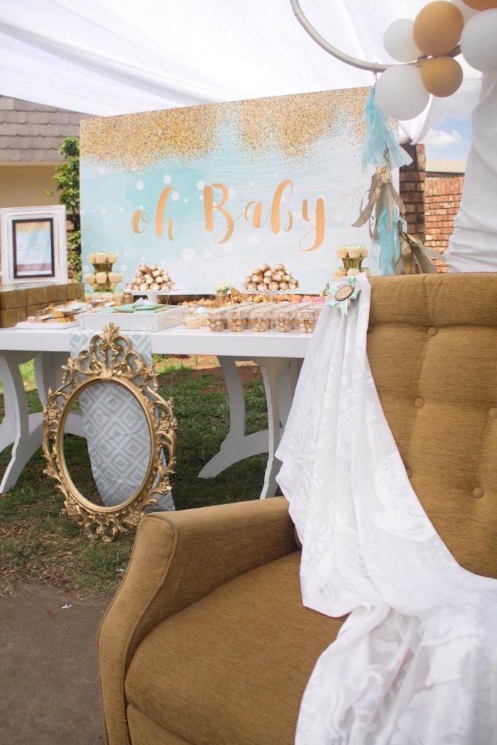 Kara's Party Ideas Rustic Glam Baby Shower | Kara's Party ...