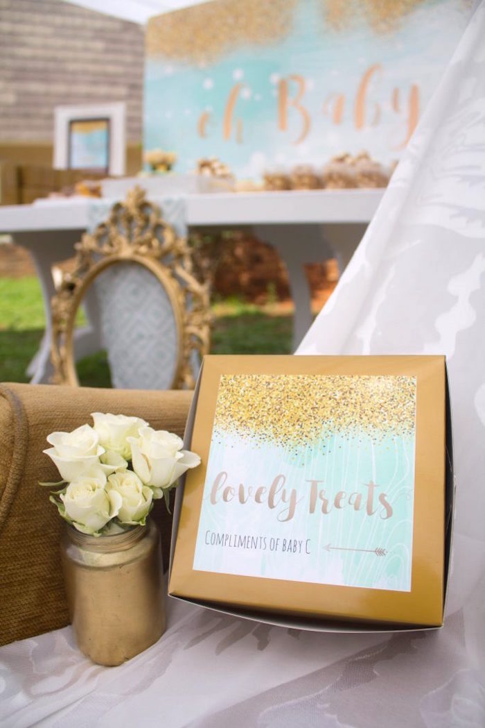 Favors from a Rustic Glam Baby Shower on Kara's Party Ideas | KarasPartyIdeas.com (19)