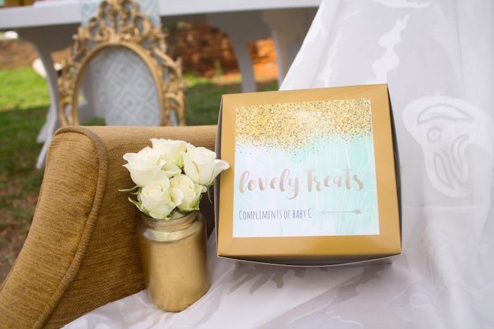 Favors from a Rustic Glam Baby Shower on Kara's Party Ideas | KarasPartyIdeas.com (18)