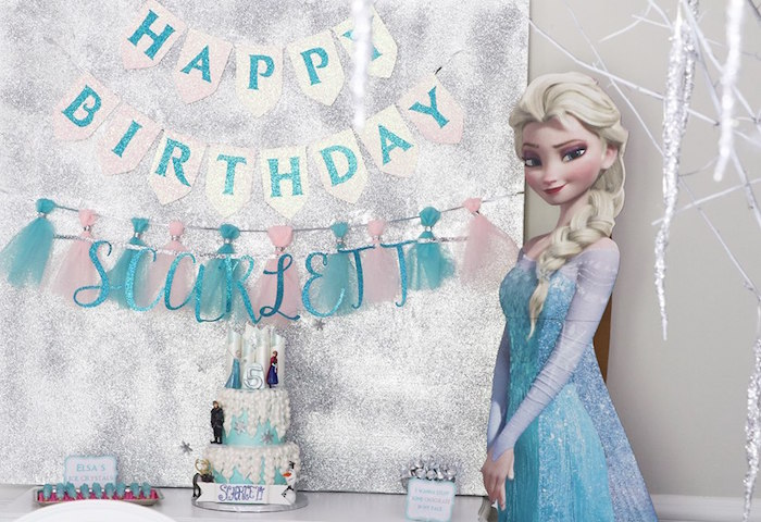 Shimmering Frozen Birthday Party on Kara's Party Ideas | KarasPartyIdeas.com (15)