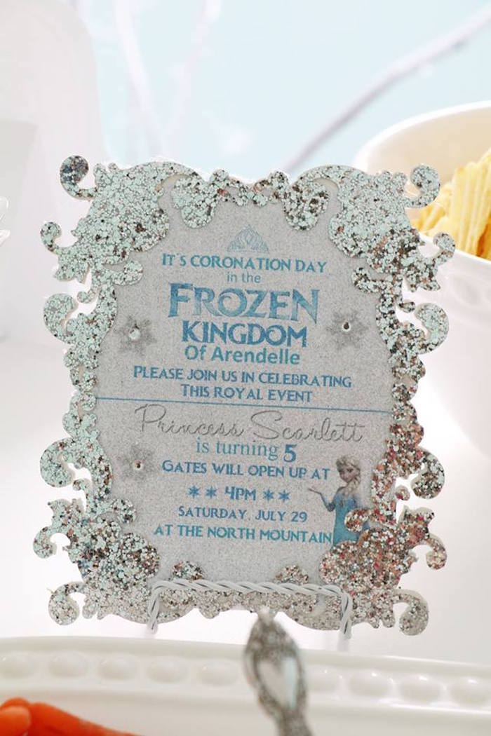 Shimmering Frozen Birthday Party on Kara's Party Ideas | KarasPartyIdeas.com (7)