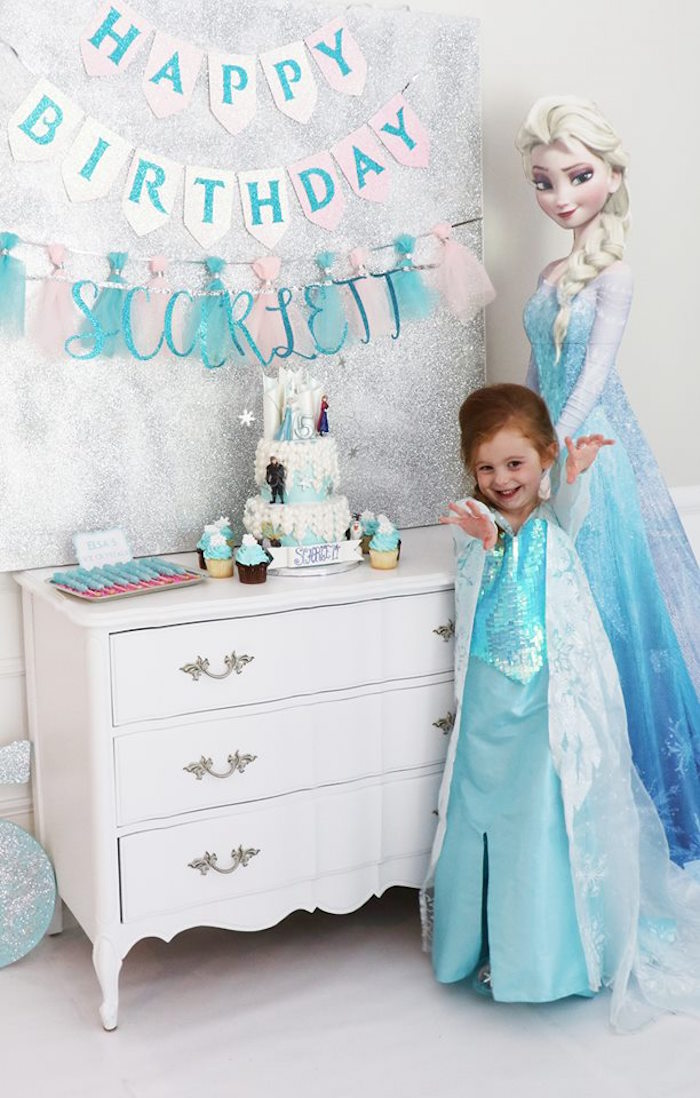 Shimmering Frozen Birthday Party on Kara's Party Ideas | KarasPartyIdeas.com (3)