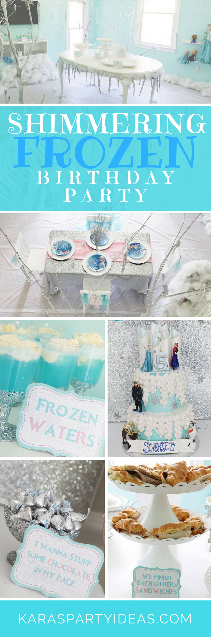 Shimmering Frozen Birthday Party via Kara's Party Ideas - KarasPartyIdeas.com