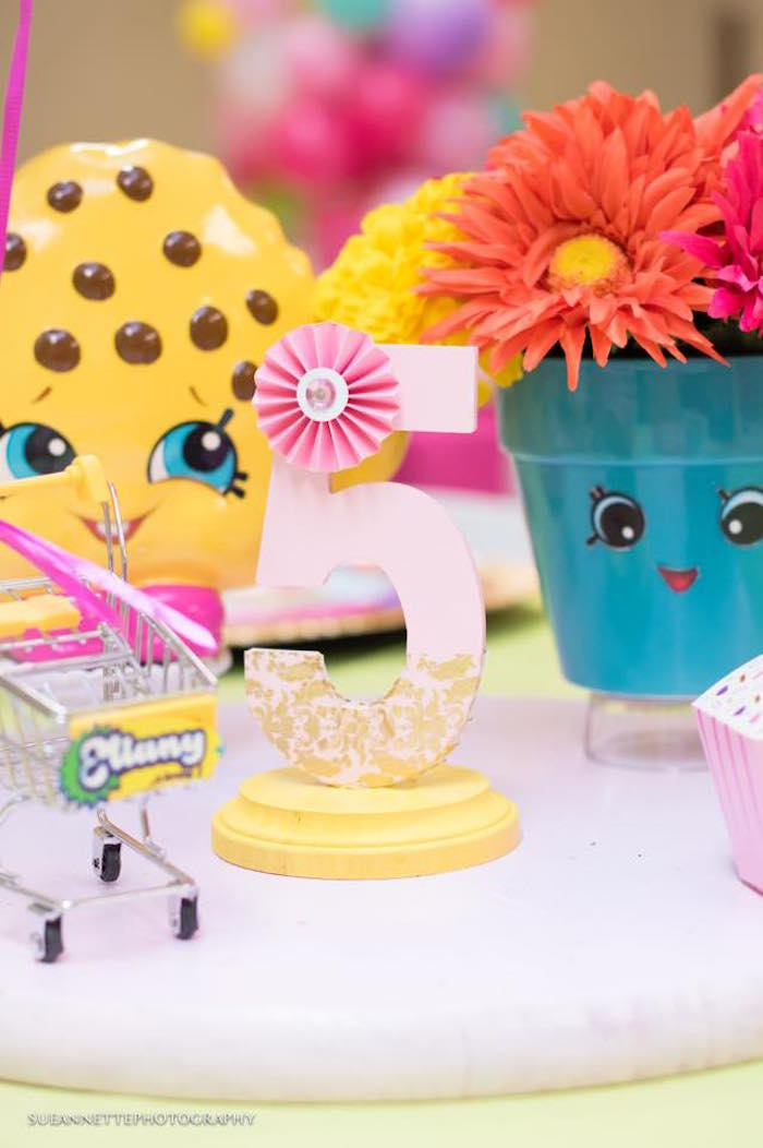 Number decoration from a Shopkins Birthday Party on Kara's Party Ideas | KarasPartyIdeas.com (28)
