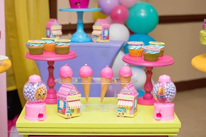 Sweet table from a Shopkins Birthday Party on Kara's Party Ideas | KarasPartyIdeas.com (23)