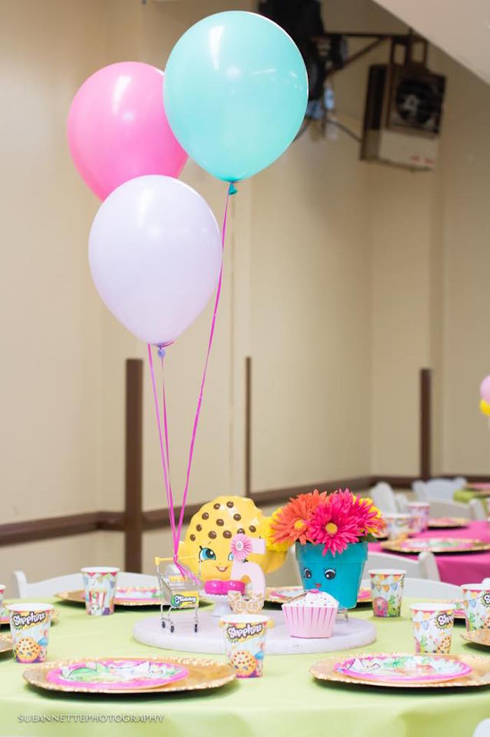 Guest table from a Shopkins Birthday Party on Kara's Party Ideas | KarasPartyIdeas.com (20)