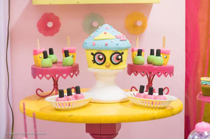 Cakes, Krispies, and Nail Polish Cake Pops from a Shopkins Birthday Party on Kara's Party Ideas | KarasPartyIdeas.com (14)