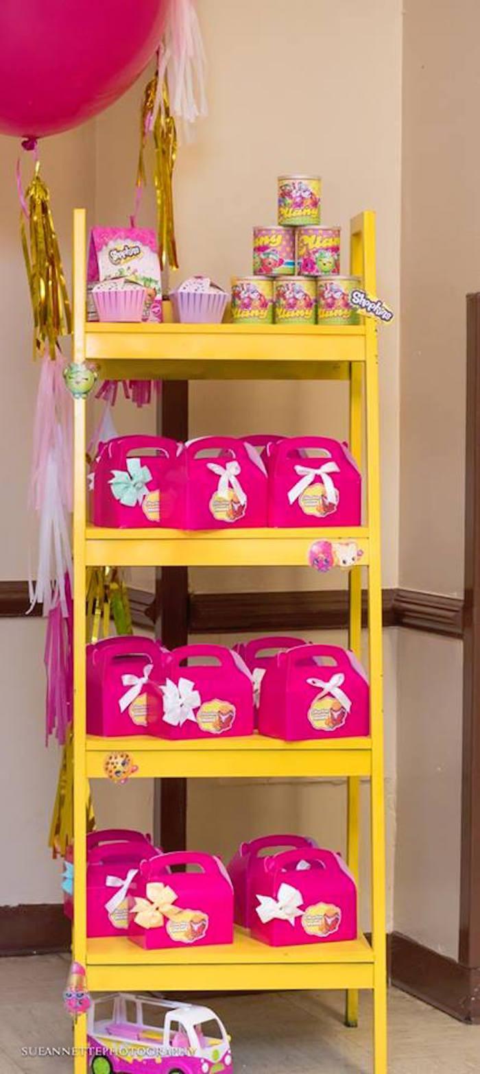 Favor shelf from a Shopkins Birthday Party on Kara's Party Ideas | KarasPartyIdeas.com (13)