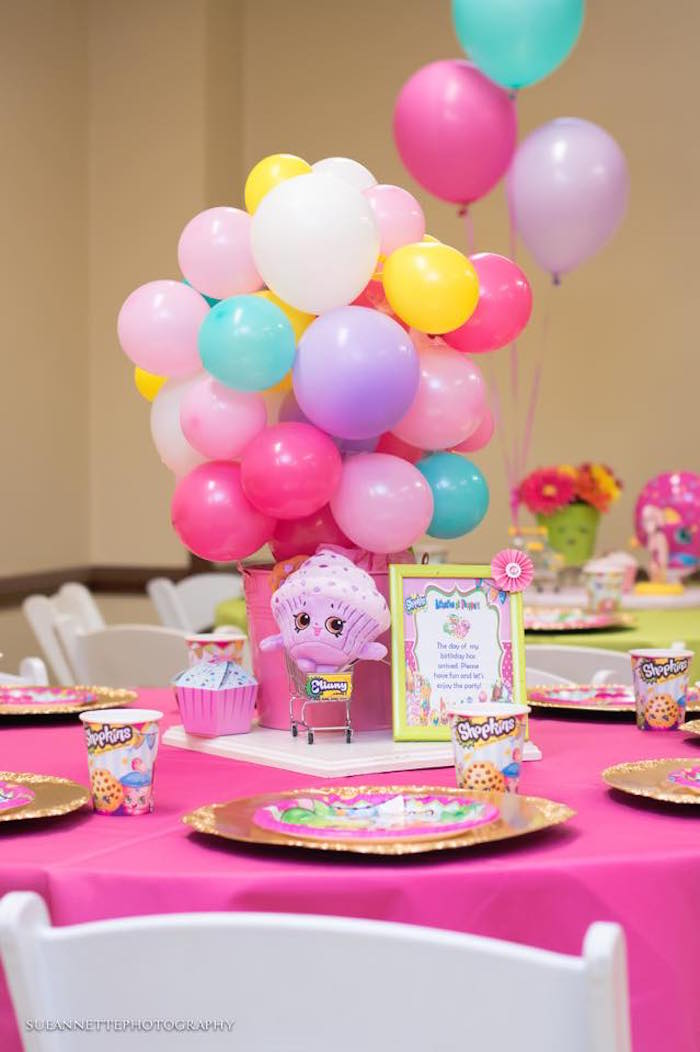Guest table from a Shopkins Birthday Party on Kara's Party Ideas | KarasPartyIdeas.com (12)