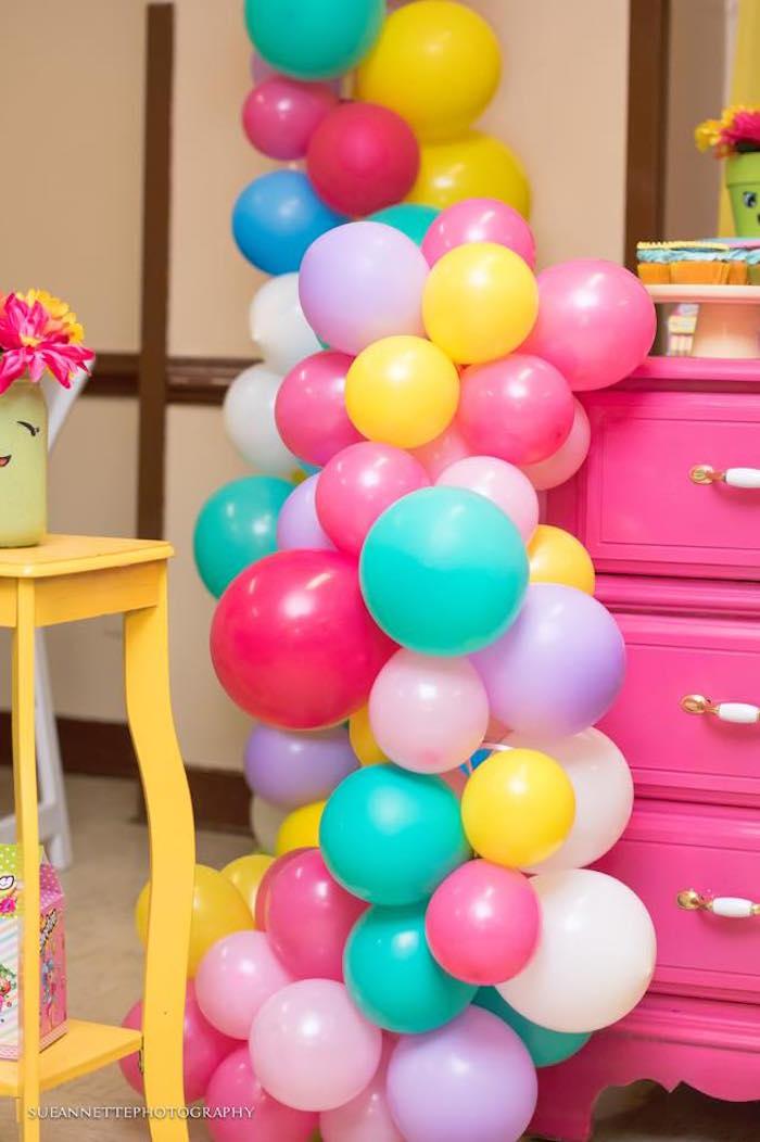 Balloon installation from a Shopkins Birthday Party on Kara's Party Ideas | KarasPartyIdeas.com (36)