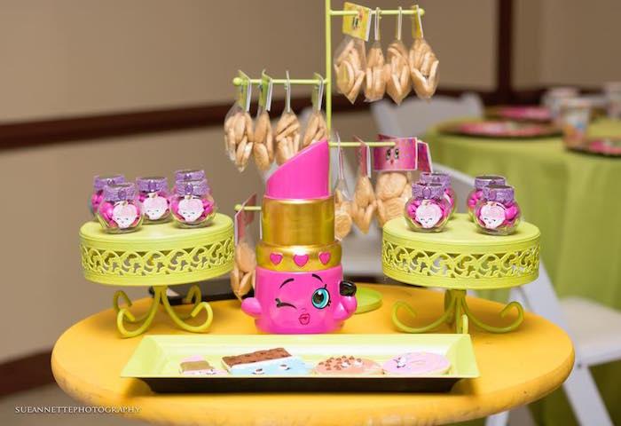Favor table from a Shopkins Birthday Party on Kara's Party Ideas | KarasPartyIdeas.com (6)