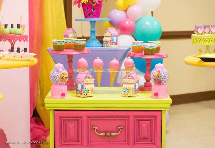 Dessert table from a Shopkins Birthday Party on Kara's Party Ideas | KarasPartyIdeas.com (5)