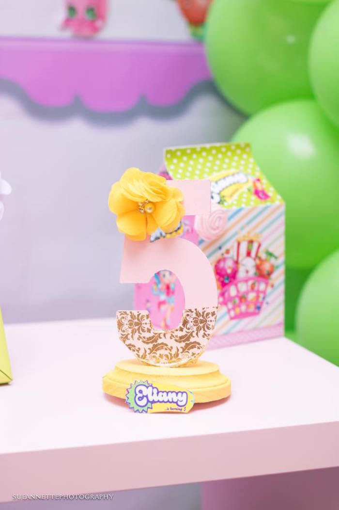 Number decoration from a Shopkins Birthday Party on Kara's Party Ideas | KarasPartyIdeas.com (31)