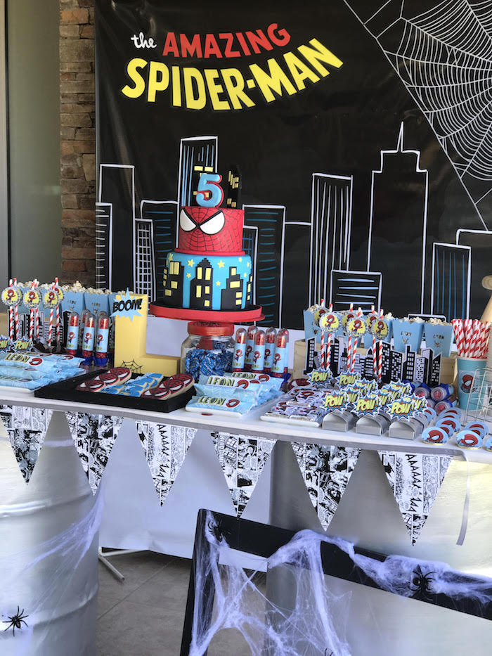 kara u0026 39 s party ideas the amazing spiderman birthday party