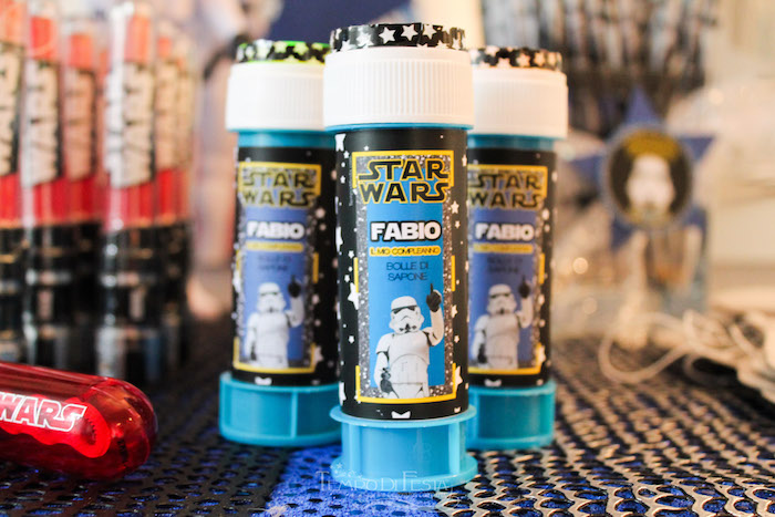 Favor tubes from a Star Wars Birthday Party on Kara's Party Ideas | KarasPartyIdeas.com (21)
