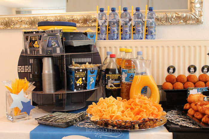 Drink & snack bar from a Star Wars Birthday Party on Kara's Party Ideas | KarasPartyIdeas.com (18)