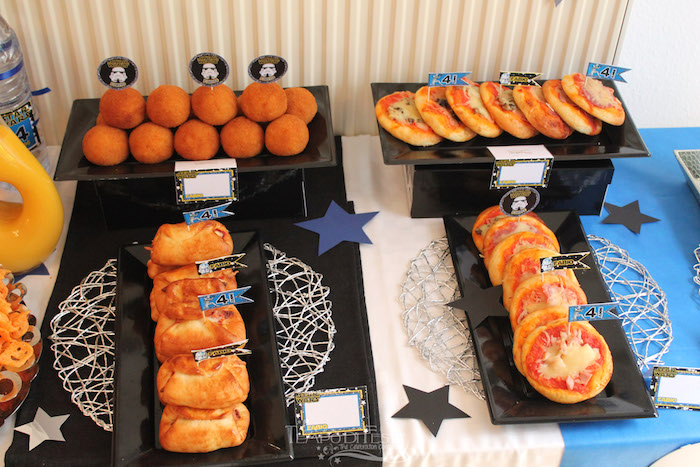Food table from a Star Wars Birthday Party on Kara's Party Ideas | KarasPartyIdeas.com (15)