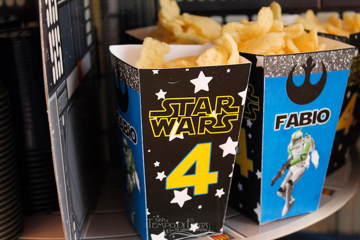 Star Wars snack boxes from a Star Wars Birthday Party on Kara's Party Ideas | KarasPartyIdeas.com (13)