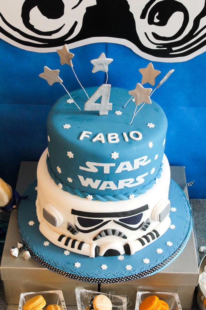 Cake from a Star Wars Birthday Party on Kara's Party Ideas | KarasPartyIdeas.com (10)