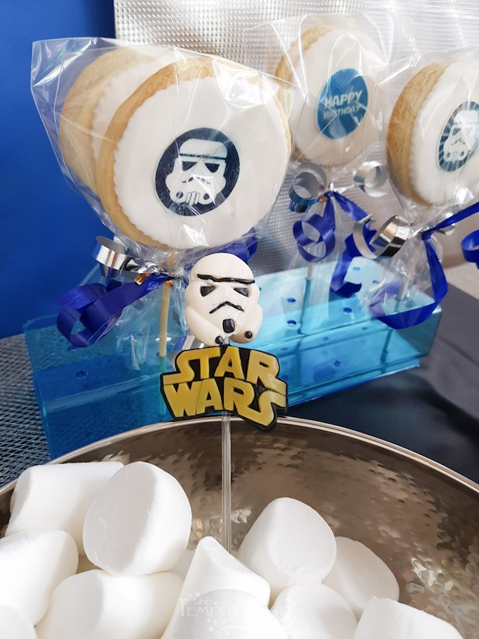 Cookie Pops from a Star Wars Birthday Party on Kara's Party Ideas | KarasPartyIdeas.com (9)