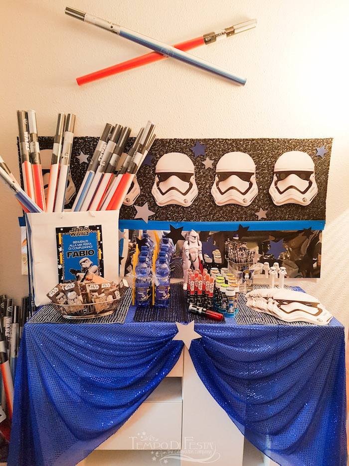 Storm Trooper Party Table from a Star Wars Birthday Party on Kara's Party Ideas | KarasPartyIdeas.com (7)