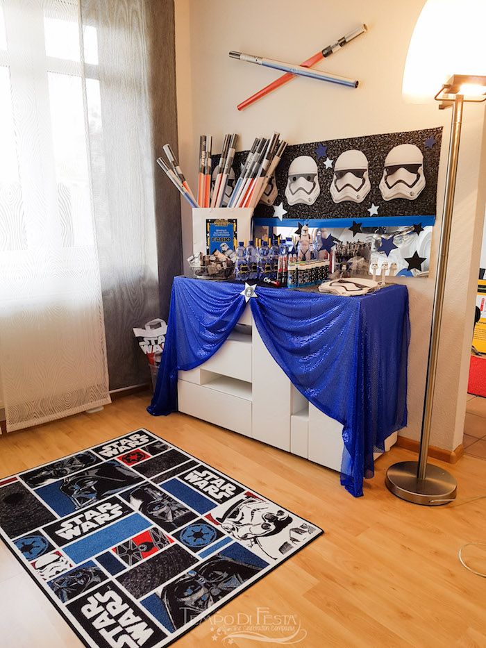 Storm Trooper Party Table from a Star Wars Birthday Party on Kara's Party Ideas | KarasPartyIdeas.com (5)