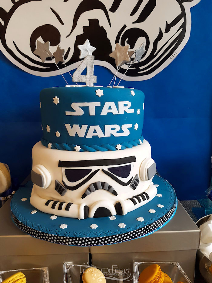 Cake from a Star Wars Birthday Party on Kara's Party Ideas | KarasPartyIdeas.com (3)