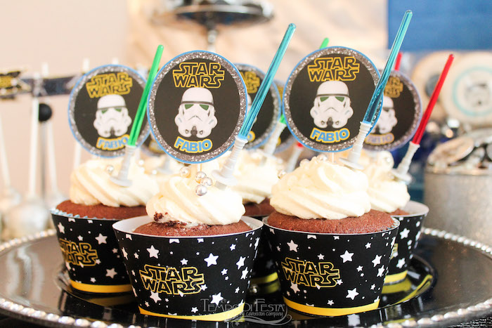 Storm Trooper Cupcakes from a Star Wars Birthday Party on Kara's Party Ideas | KarasPartyIdeas.com (29)