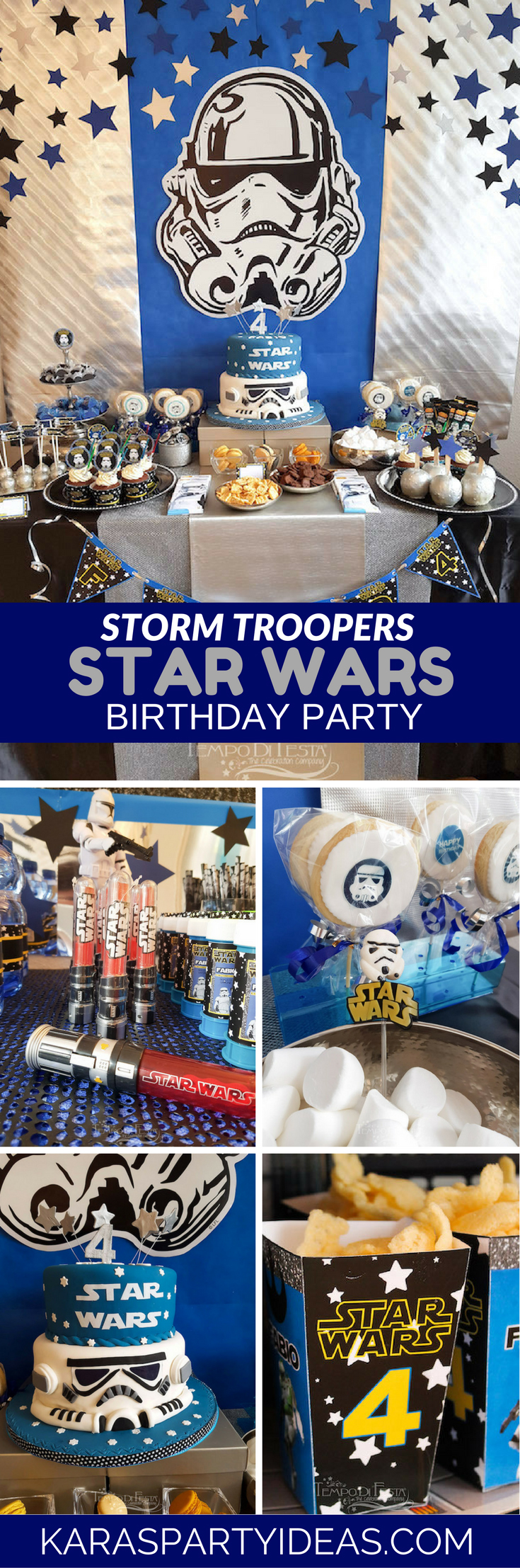 Storm Troopers Star Wars Birthday Party via Kara's Party Ideas - KarasPartyIdeas.com
