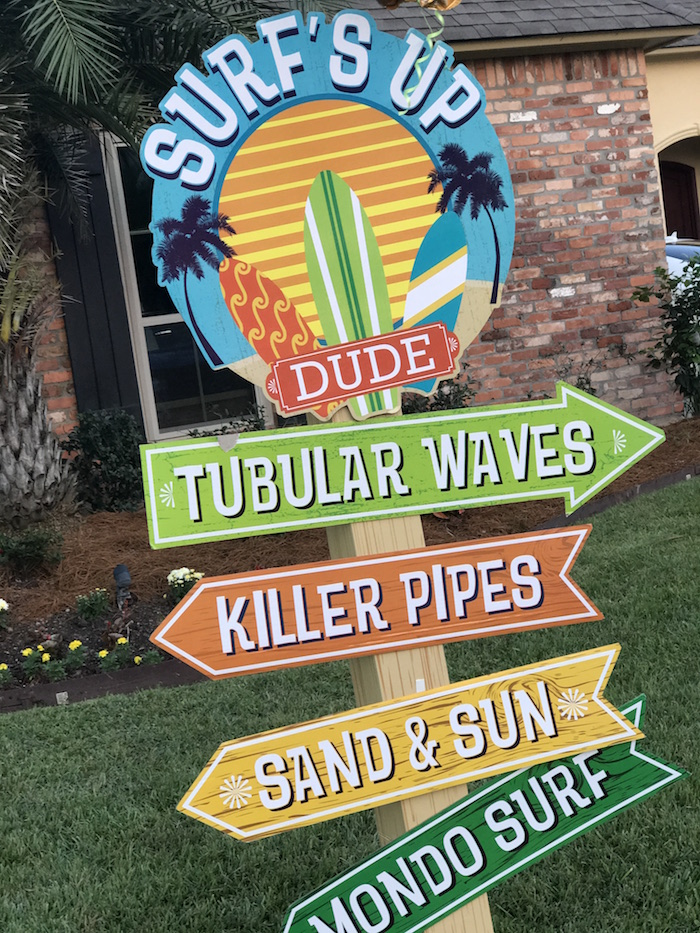 Surf's Up directional sign from a Surf's Up Birthday Party on Kara's Party Ideas   KarasPartyIdeas.com (7)