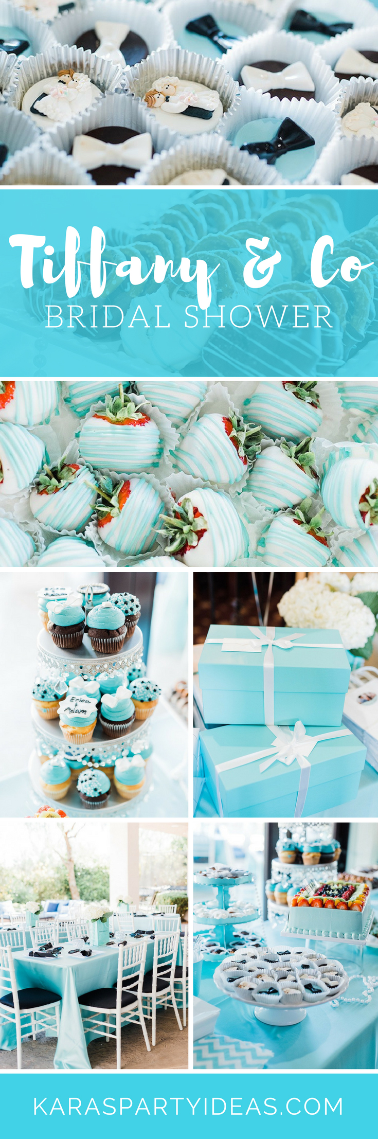 Tiffany Co Bridal Shower via Kara's Party Ideas - KarasPartyIdeas.com