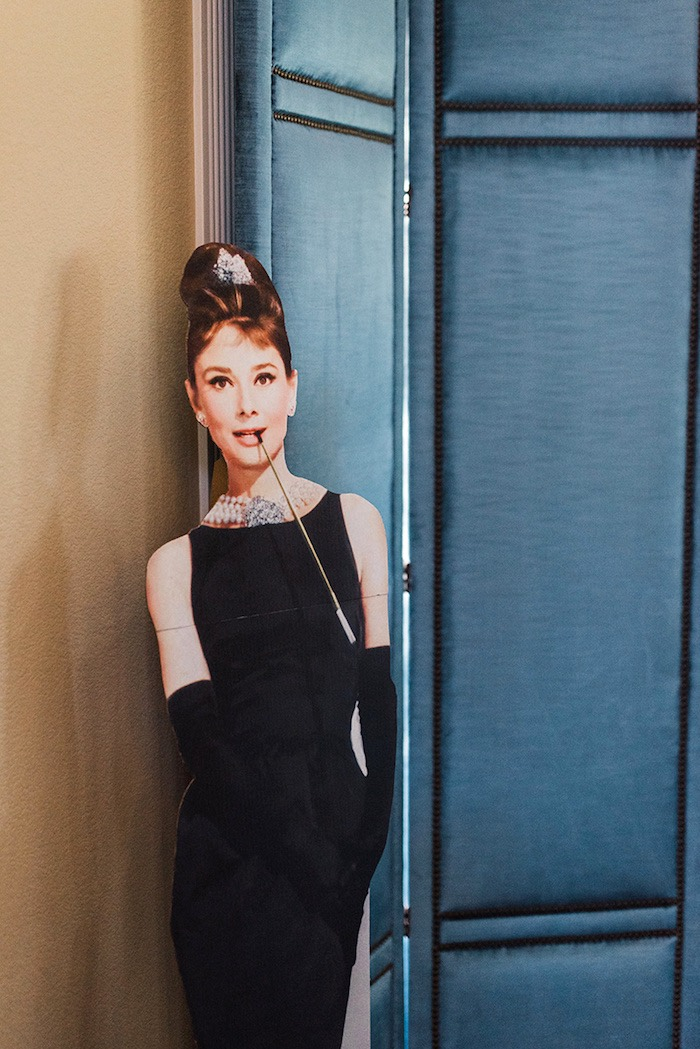 Audrey Hepburn Standee from a Tiffany & Co. Bridal Shower on Kara's Party Ideas | KarasPartyIdeas.com (27)