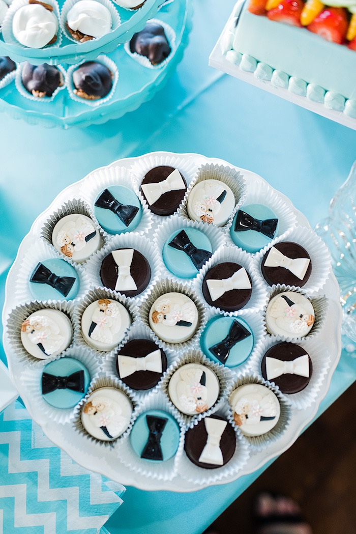 Covered Oreos from a Tiffany & Co. Bridal Shower on Kara's Party Ideas | KarasPartyIdeas.com (22)