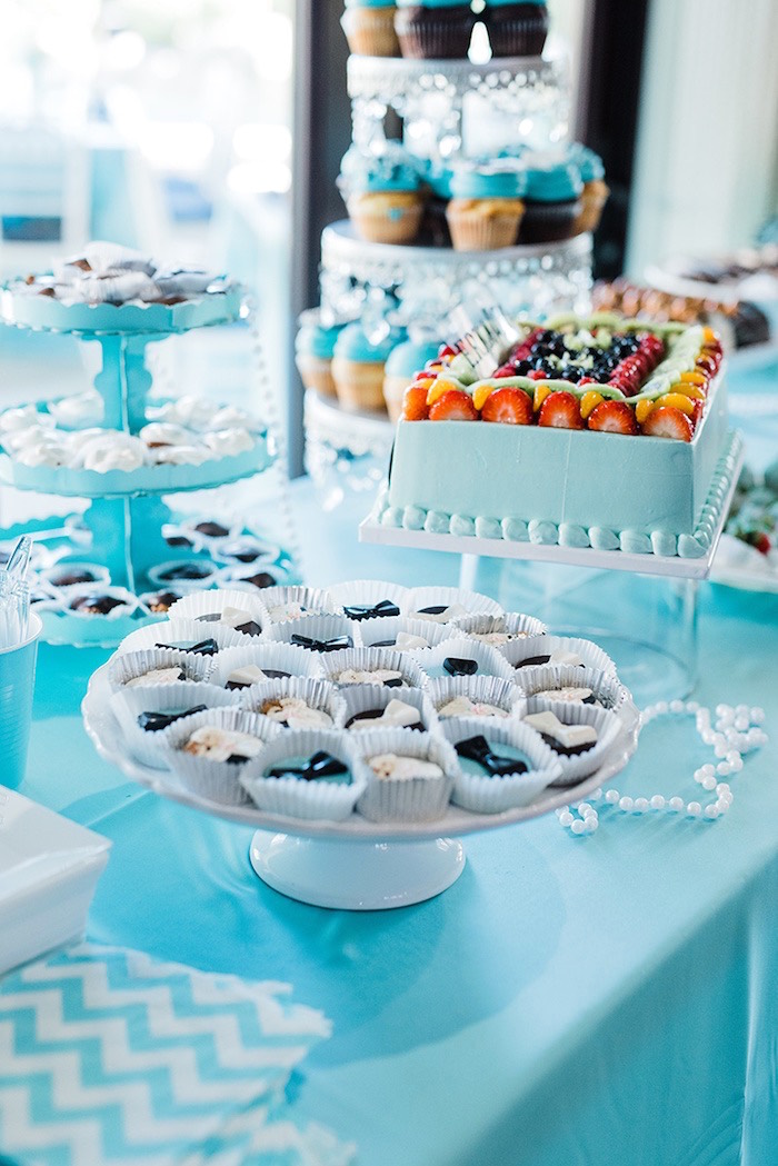 Sweet table from a Tiffany & Co. Bridal Shower on Kara's Party Ideas | KarasPartyIdeas.com (20)