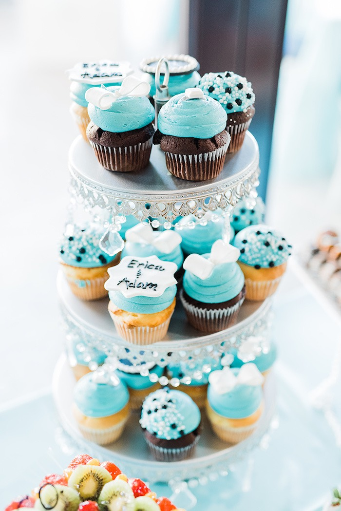 Cupcakes from a Tiffany & Co. Bridal Shower on Kara's Party Ideas | KarasPartyIdeas.com (14)