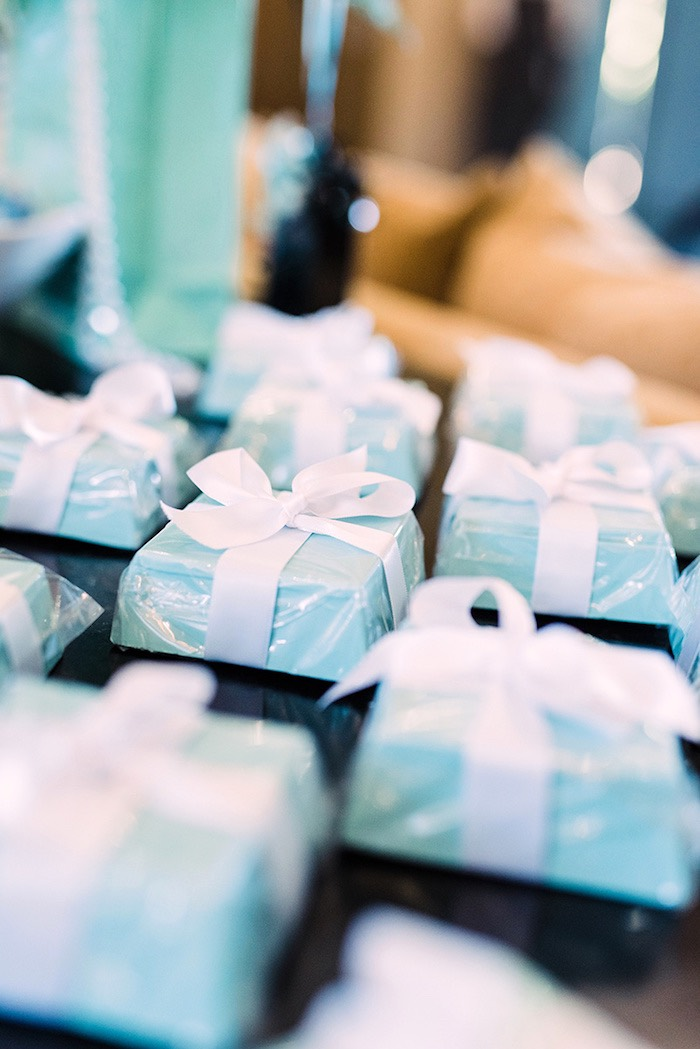 Gift boxes from a Tiffany & Co. Bridal Shower on Kara's Party Ideas | KarasPartyIdeas.com (35)