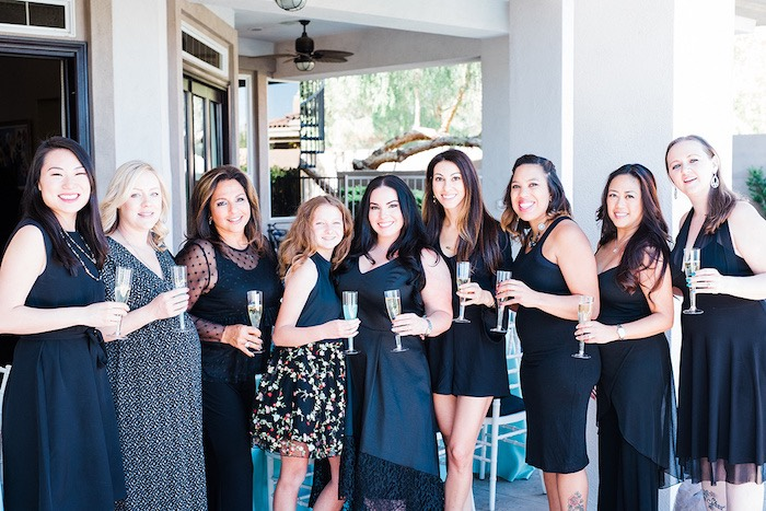 Black attire from a Tiffany & Co. Bridal Shower on Kara's Party Ideas | KarasPartyIdeas.com (7)