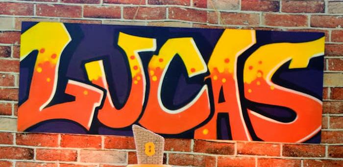 Urban Graffiti Skateboard Birthday Party on Kara's Party Ideas | KarasPartyIdeas.com (2)