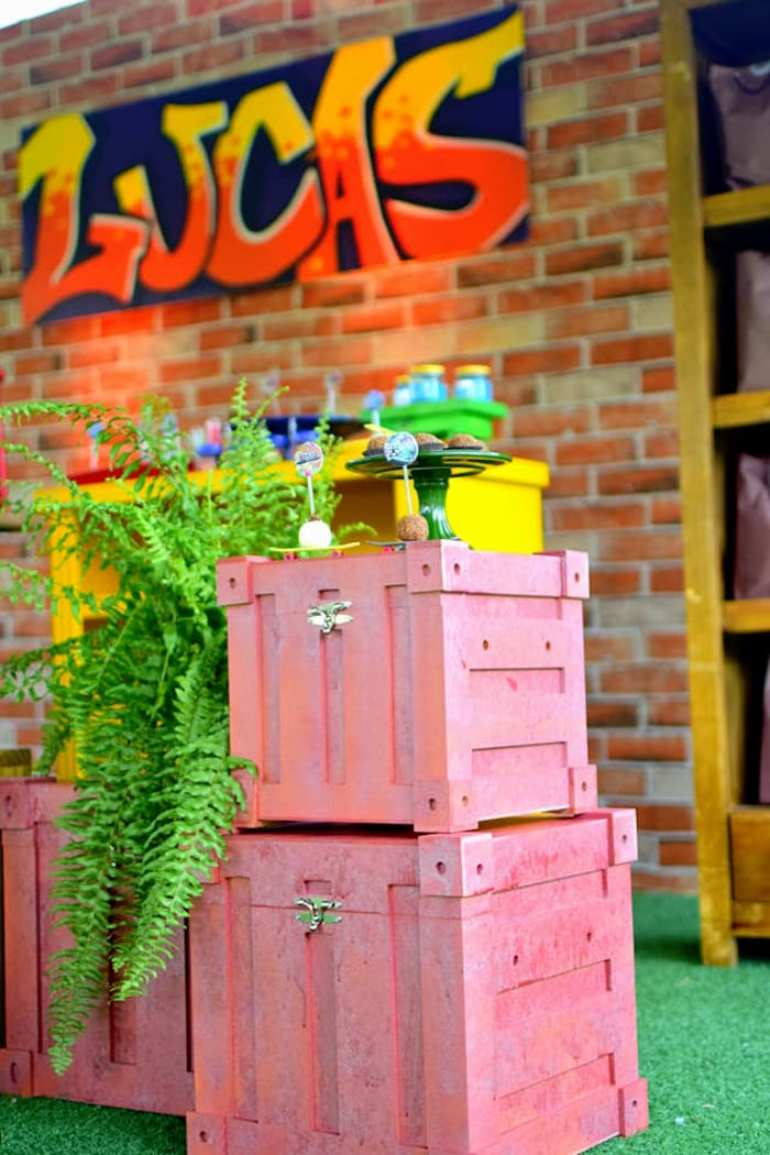 Urban crates from an Urban Graffiti Skateboard Birthday Party on Kara's Party Ideas | KarasPartyIdeas.com (19)