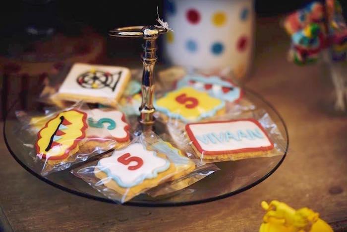 Cookies from a Vintage County Fair Birthday Party on Kara's Party Ideas | KarasPartyIdeas.com