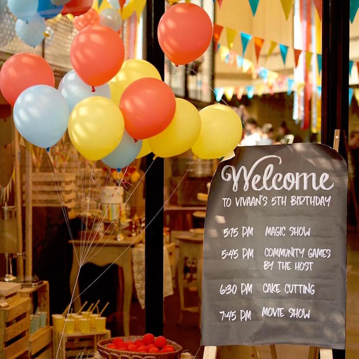 Welcome sign from a Vintage County Fair Birthday Party on Kara's Party Ideas | KarasPartyIdeas.com