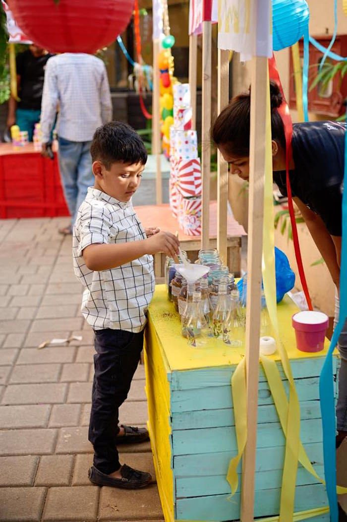 Game stand from a Vintage County Fair Birthday Party on Kara's Party Ideas   KarasPartyIdeas.com