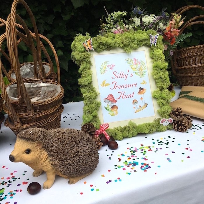 Woodland decor + signage from a Woodland Fairy Birthday Party on Kara's Party Ideas | KarasPartyIdeas.com (12)